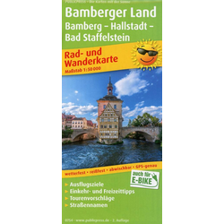 Bamberger Land Bamberg - Hallstadtt - Bad Staffelstein 1:50 000