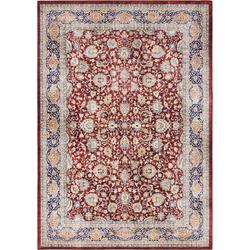 Teppich Keshan Maschad, ELLE Decor, rechteckig, Höhe 5 mm, Orient-Optik rot 80 cm x 150 cm x 5 mm
