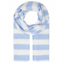 Apart Schal mit Streifen mit Streifen blau