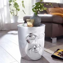Beistelltisch aus Aluminium Gesichtsform