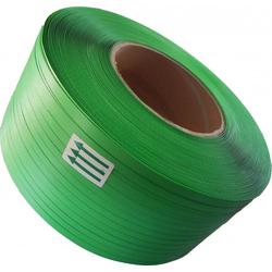 12000m PP Umreifungsband 12 mm x 0,63 mm, PP, 200 mm Kern grün PP Band Umreifung