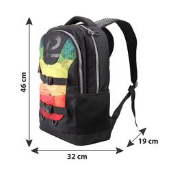 BESTLIFE Rucksack MERX schwarz/gelb mit Laptopfach bis 15,6 Zoll