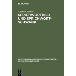 Sprichwortbild und Sprichwortschwank als Buch von Andreas Bässler
