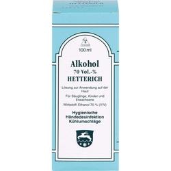 ALKOHOL 70% V/V Hetterich 100 ml