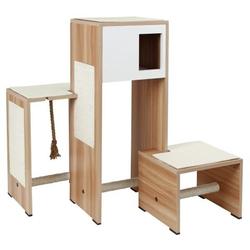 Kratzmöbel Ambiente im Holzdekor, Holzdekor/weiß