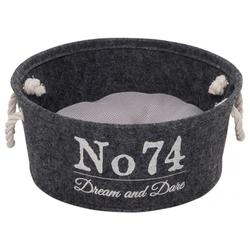 D&D Hundekorb Home Collection Felt Vat grau, Maße: 35 x 35 x 15 cm