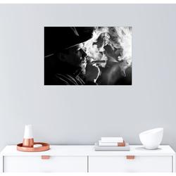 Posterlounge Wandbild, rauchender Cowboy 100 cm x 70 cm
