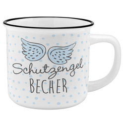 Sheepworld Tasse Auswahl Sheepworld Gruss & Co - Lieblings- Kaffe- Becher Tasse in Emaille Optik Art: Schutzengel