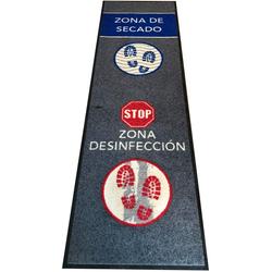HostelNovo - Alfombra desinfectante para calzado - Desinfección y secado para la suela de zapatos - Texto en español - 1 pieza - Medidas: 60 x 200 cm