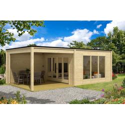Design Gartenhaus Cubus-Plus-40, ohne Imprägnierung