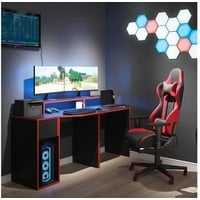 Vicco Gamingtisch Gaming Desk Schreibtisch Kron 170cm Gamer PC Tisch Computertisch Bürotisch