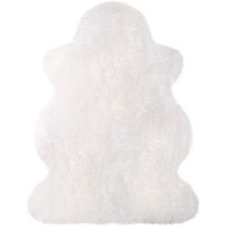 Fellteppich Lammfell 100 weiß, Heitmann Felle, fellförmig, Höhe 70 mm, echtes Austral. Lammfell, Wohnzimmer