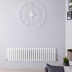 Heizkörper 40cm x 141cm 1653W Weiß, vertikale Säulen - Revive, von Hudson Reed