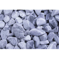 Marmor Kristall Blau getrommelt, 25-40, 30 kg Big Bag