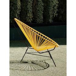 Stuhl Acapulco Chair Acapulco Design gelb, 92x70x95 cm