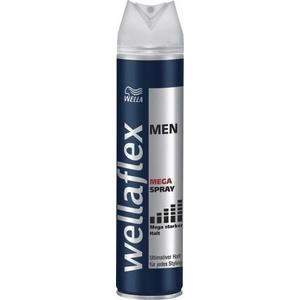 3x WELLA wellaflex Haarspray Men Mega starker Halt, 250 ml
