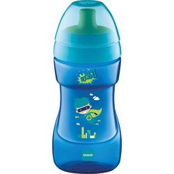 MAM Trinkflasche Trinkflasche Sports Cup, PP, 330 ml, grün/gelb blau