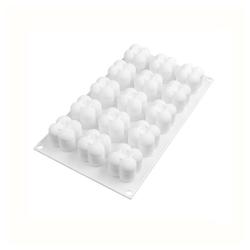 kueatily Silikonform 15-in-1-Kerzen Silikonform 3D Mini Magic Bubble Cube Kugelharz Kerze Silikonform Seifenform Schokoladenkerzenharz Seife Silikonformen