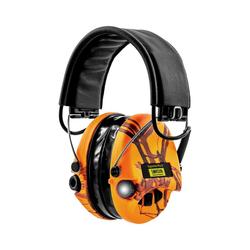 Sordin Kapselgehörschutz Supreme Pro X LED, Camoband, Gelkissen orange