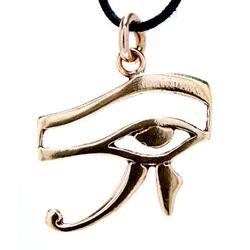 Kiss of Leather Kettenanhänger Auge des Horus Schutz Amulett Horusauge ägyptisch Bronze Anhänger