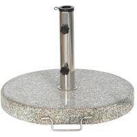 Siena Garden granitständer 30 kg, grau rund mit Griff und Rolle