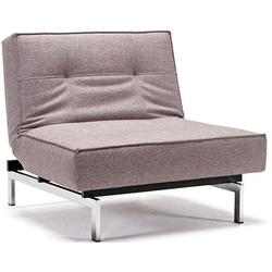 INNOVATION LIVING ™ Sessel Splitback, mit chromglänzenden Beinen, in skandinavischen Design grau