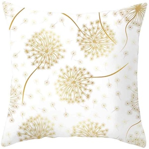 Allence Kissenbezug Ultra weiche Gold Blätter geometrische Kissen Cover für Bett Sofa Wohnzimmer Schlafzimmer Büros 45x45 cm