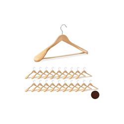relaxdays Kleiderbügel 20 x Anzug Kleiderbügel natur