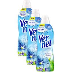 Vernel Weichspülerkonzentrat 3er Pack Frische 3x36 Waschladungen Weichspüler