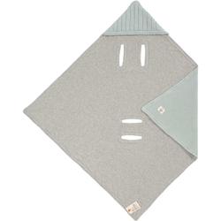 Lässig Einschlagdecke für Babyschalen GOTS light mint