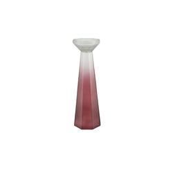 Kerzenständer ¦ rot ¦ Glas  Ø: 14