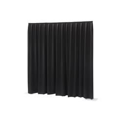 Wentex Pipes & Drapes Vorhang Molton, 3x4m, 300g/m², schwarz