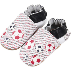 Krabbelschuhe Soccer Balls  blau/rot Gr. 18/19 Jungen Baby