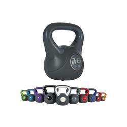 MSports® Kettlebell Kettlebell Kunststoff grau