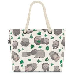 VOID Strandtasche (1-tlg), Wombats Australien Beach Bag Wombat Haus-Tier Wild-Tier Reise Maus Hamster