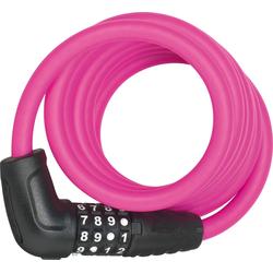 ABUS Spiralschloss 5510C/180/10 rosa Fahrradschlösser Fahrradzubehör Fahrräder Zubehör Fahrradschloss