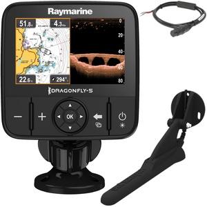 Raymarine E70293 Dragonfly-5Pro Sonar/GPS (12,7 cm (5 Zoll), integrierter Chirp Down Vision, CPT-DVS Geber, WiFi)