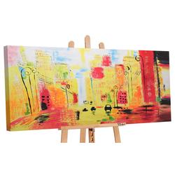 YS-Art Gemälde Der Rhythmus der Stadt 059