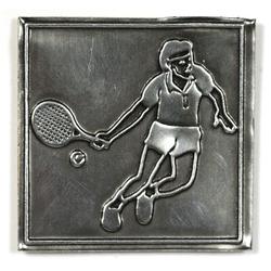 "Metalletikett ""Tennis"""