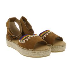 Betty Barclay BETTY BARCLAY Sandalette ausgefallene Damen Sandalen Ibiza-Look Sommer-Schuhe Braun Sandale 40