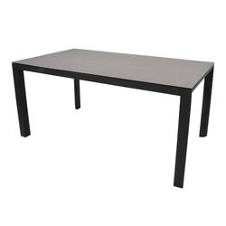 Gartentisch mit einem Gestell aus Aluminium in anthrazit und einer Keramik Tischplatte, Maße: B/H/T ca. 160/74/90 cm