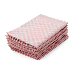 Hometex Premium Textiles Geschirrtuch, (10er Set Geschirrtuch Grubentuch, 100% Baumwolle Zwirn, Sehr saugfähig - Premium Qualität) rosa