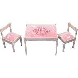 STIKKIPIX Möbelfolie KA08, Pink Princess Butterfly Aufkleber - (Möbel Nicht inklusive) - Möbelsticker passend für die Kindersitzgruppe LÄTT von IKEA