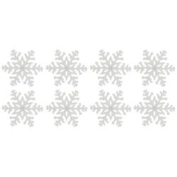 Dekostern Eiskristall, 8 Stück, Fensterdekoration