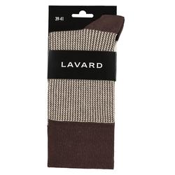 Lavard Braune Socken mit einem Pepitamuster 73928  39-41