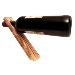 KDR Produktgestaltung Weinflaschenhalter Magischer Weinflaschenhalter aus Holz, (1-St), Schwebend braun