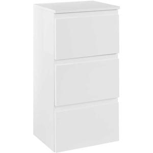 Badezimmer Unterschrank in Hochglanz Weiß 40 cm breit