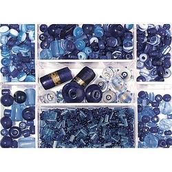 Rayher Perlen-Set Glasperlenbox saphir