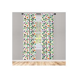 Gardine Vorhang für Wohnzimmer Schlafzimmer Dekor, Abakuhaus, Gemüse Zucchini-Paprikaschoten 150 cm x 245 cm