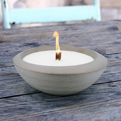 hecht international Outdoorkerze CERA, Feuerschale, ØxH: 23x9 cm grau Kerzen Laternen Wohnaccessoires